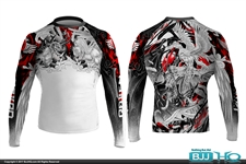 Today on BJJHQ Raven Heaven & Hell Rashguard - $35